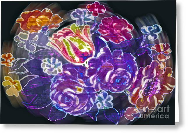 Gardenias Greeting Cards - Lost Treasures Greeting Card by Gwyn Newcombe