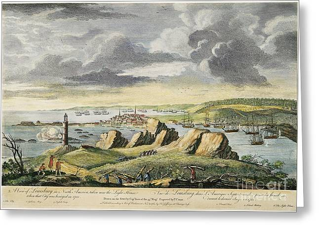 Amherst Greeting Cards - Louisbourg Siege, 1758 Greeting Card by Granger