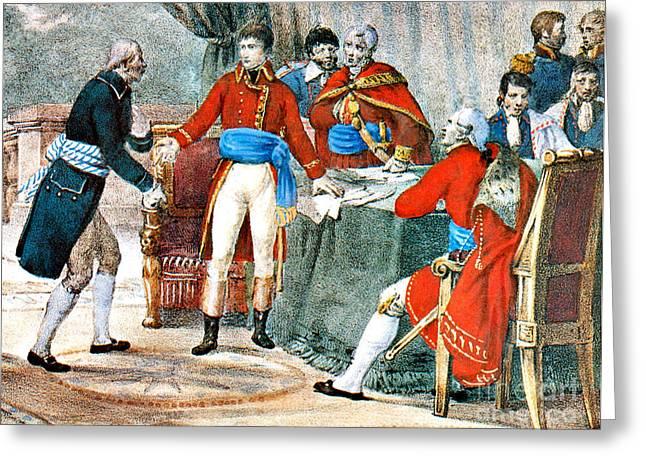 Louisiana Purchase Greeting Cards - Louisiana Purchase, 1803 Greeting Card by Photo Researchers