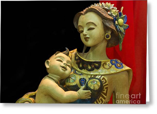 Caring Mother Greeting Cards - Love and Care Greeting Card by Charuhas Images