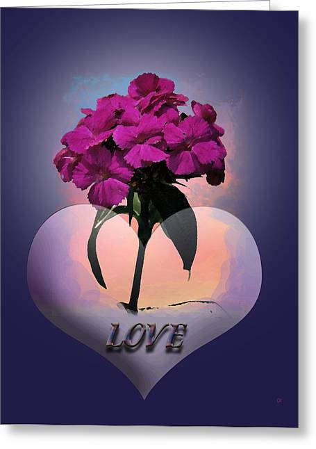 Large Poster Greeting Cards - Love Greeting Card by Gerlinde Keating - Keating Associates Inc
