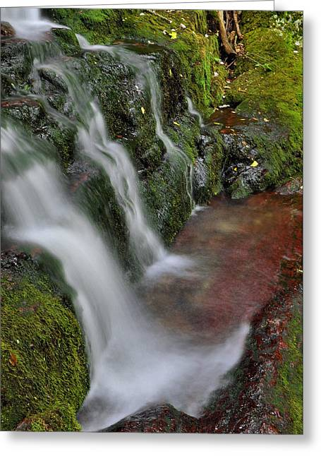 Buttermilk Falls Greeting Cards - Lower Buttermilk Falls Greeting Card by Stephen  Vecchiotti