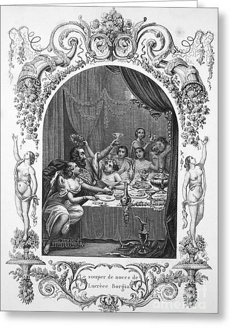 Borgia Greeting Cards - Lucrezia Borgia (1480-1519) Greeting Card by Granger