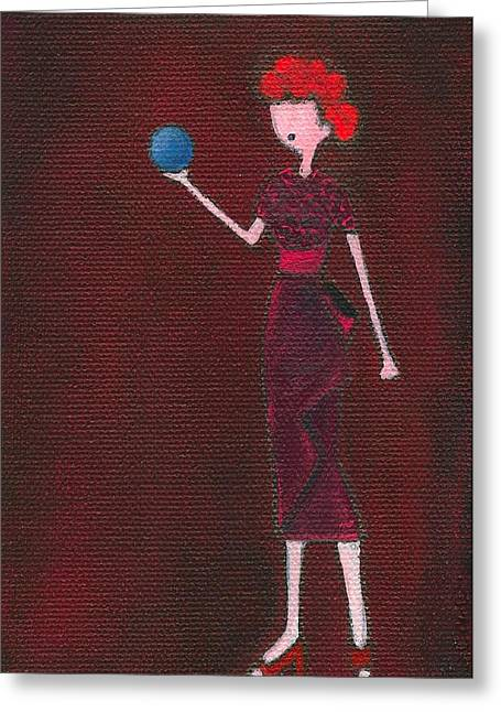 Lucille Greeting Cards - Lucy Greeting Card by Ricky Sencion