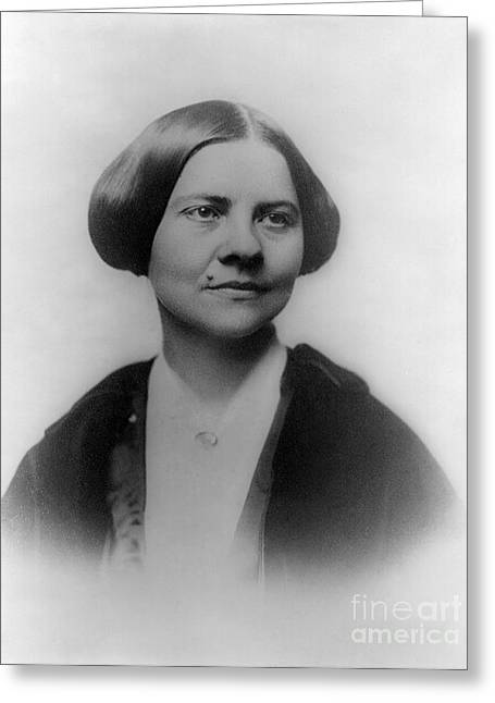 Thirteenth Amendment Greeting Cards - Lucy Stone, American Abolitionist Greeting Card by Photo Researchers