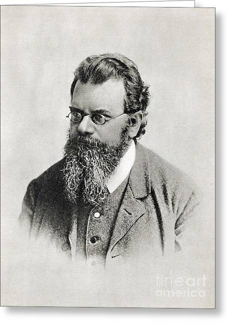 Statistical Greeting Cards - Ludwig Boltzmann, Austrian Physicist Greeting Card by Photo Researchers