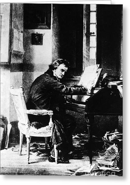 Completely Greeting Cards - Ludwig Van Beethoven, German Composer Greeting Card by Photo Researchers, Inc.