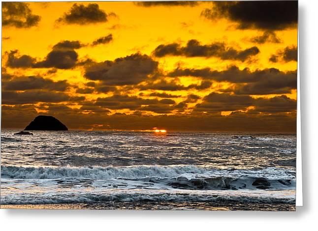 Trinidad Beach Sunset Greeting Cards - Luffenholtz Sunset Greeting Card by Greg Nyquist