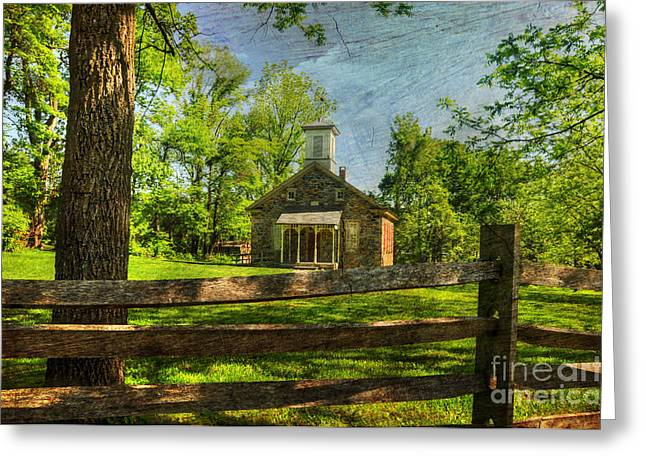 One Room School Greeting Cards - Lutz-Franklin Schoolhouse Greeting Card by Paul Ward