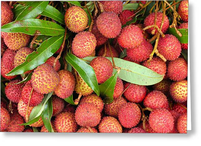 Lychee Greeting Cards - Lychees Greeting Card by Bjorn Svensson