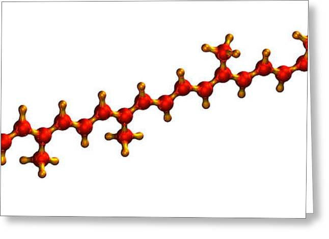 Chemical Compound Greeting Cards - Lycopene Plant Pigment Molecule Greeting Card by Dr Mark J. Winter
