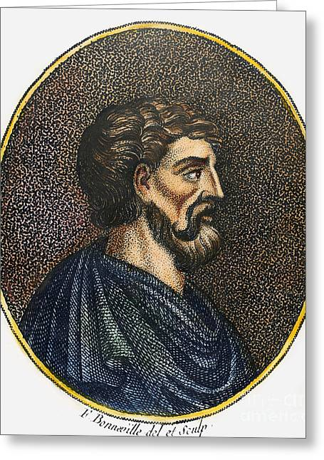 Oval Photographs Greeting Cards - Lycurgus (9th Century B.c.) Greeting Card by Granger
