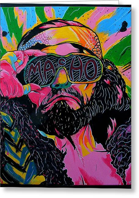 Best Sellers -  - Randy Greeting Cards - Macho Man Greeting Card by Brian Typhair