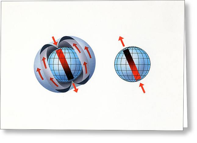 Whole Field Greeting Cards - Magnetic Field Reversal Greeting Card by Gary Hincks