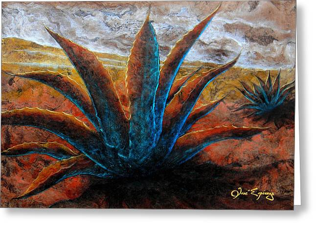 Bark Paper Prints Greeting Cards - Maguey Greeting Card by Jose Espinoza