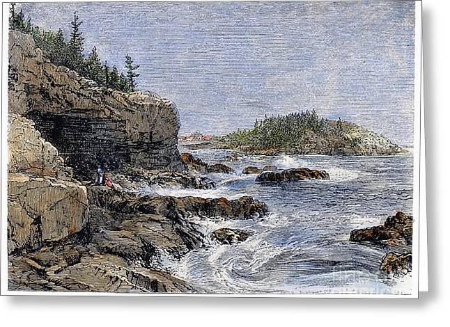Recently Sold -  - Devils Den Greeting Cards - Maine: Mount Desert Island Greeting Card by Granger
