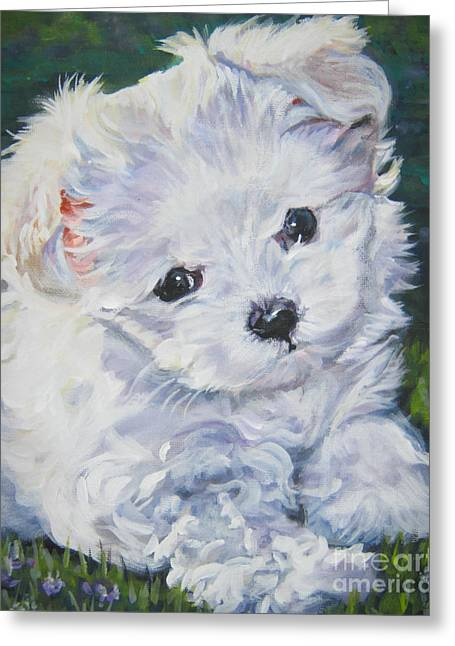 Maltese Dogs Greeting Cards - Maltese Greeting Card by Lee Ann Shepard
