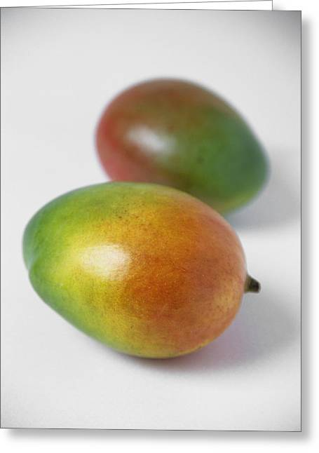 Mango Greeting Cards - Mangoes Greeting Card by Veronique Leplat