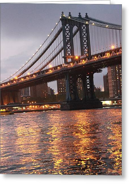 Nina Mirhabibi Greeting Cards - Manhattan Bridge Greeting Card by Nina Mirhabibi