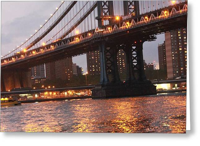 Manhattan Bridge Greeting Card by Nina Mirhabibi