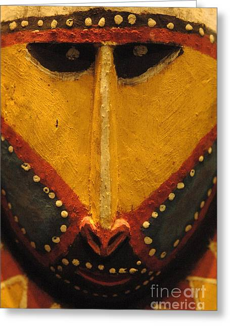 Maori Greeting Cards - Maori Mask New Zealand Greeting Card by Bob Christopher