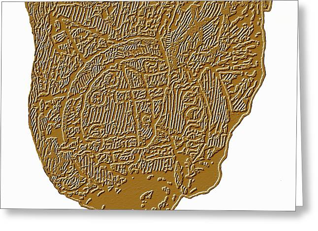 Cartographical Greeting Cards - Map Of Mesopotamia Greeting Card by Sheila Terry