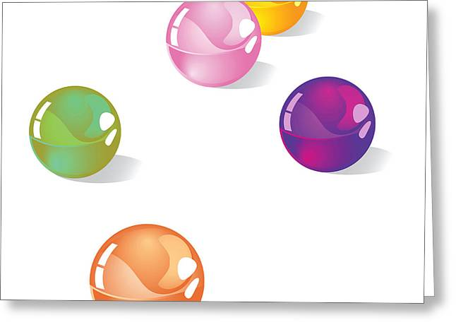 Highlighted Greeting Cards - Marbles Greeting Card by HD Connelly