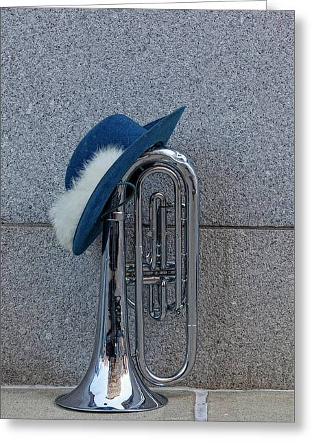 Marching Band Greeting Cards - Marching Band Instrument Greeting Card by Robert Ullmann