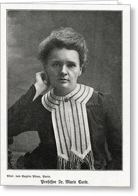 Discoverer Greeting Cards - Marie Curie, Polish-french Physicist Greeting Card by Humanities & Social Sciences Librarynew York Public Library