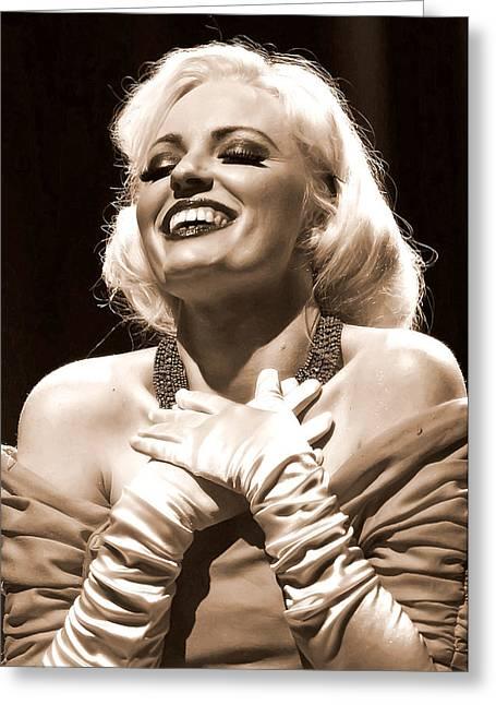 Nude Monroe Greeting Cards - Marilyn Greeting Card by Elizabeth Hart