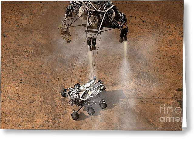 Mars Science Laboratory Greeting Cards - Mars Science Laboratory Reaches Mars Greeting Card by NASA/Science Source