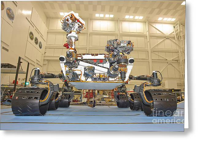 Development Greeting Cards - Mars Science Laboratory Rover Greeting Card by Stocktrek Images