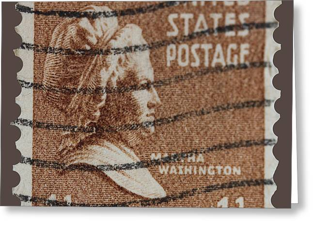 Lady Washington Greeting Cards - Martha Washington postage stamp Greeting Card by James Hill