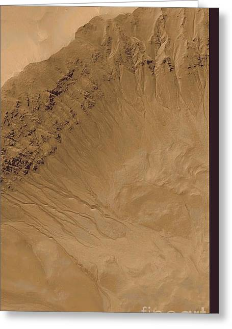 Moc Greeting Cards - Martian Water Erosion Greeting Card by NASA / Science Source