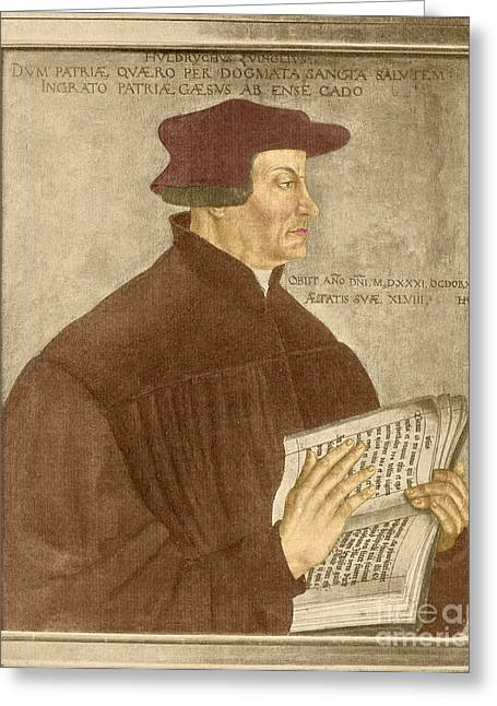 Taught Greeting Cards - Martin Luther, German Theologian Greeting Card by Photo Researchers, Inc.