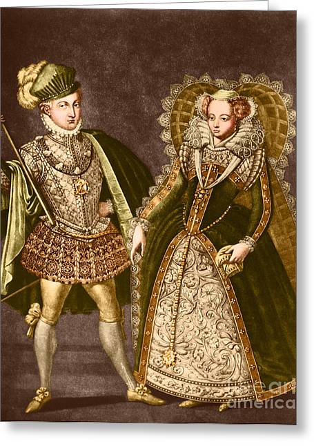 Strangling Greeting Cards - Mary, Queen Of Scots Greeting Card by Omikron