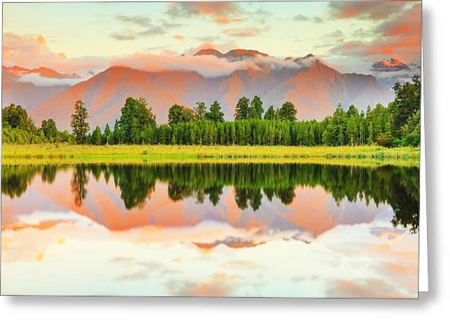 Amazing Sunset Greeting Cards - Matheson Lake Greeting Card by MotHaiBaPhoto Prints