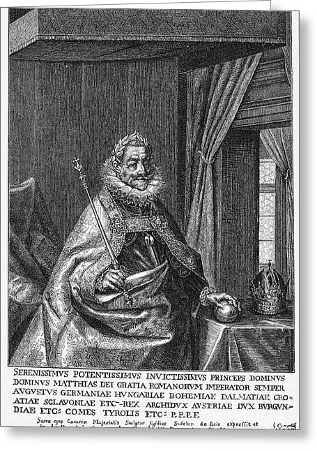 Scepter Greeting Cards - Matthias (1557-1619) Greeting Card by Granger