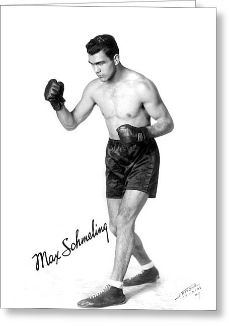Autograph Greeting Cards - Max Schmeling (1905-2005) Greeting Card by Granger