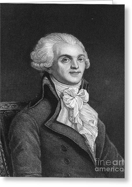 Maximilien Robespierre Greeting Card by Granger