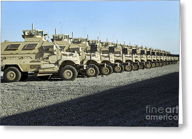 Maxxpro Mine Resistant Ambush Protected Greeting Card by Stocktrek Images