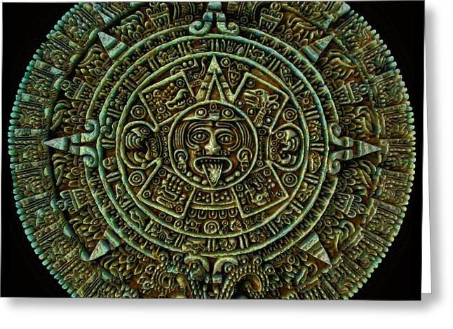 Calendar Greeting Cards - Mayan Calendar Greeting Card by Randall Arthur