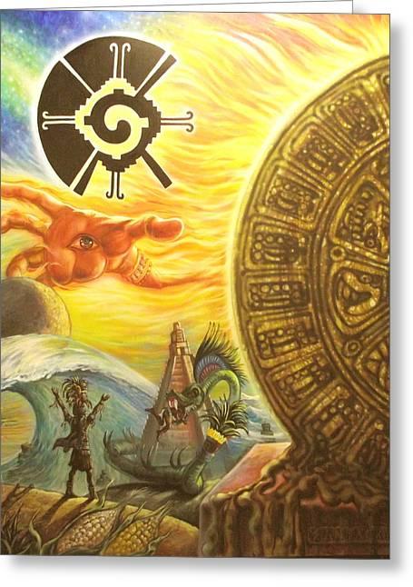 Artes Plasticas Greeting Cards - Mayan Predictions 2012 Greeting Card by Joe Santana