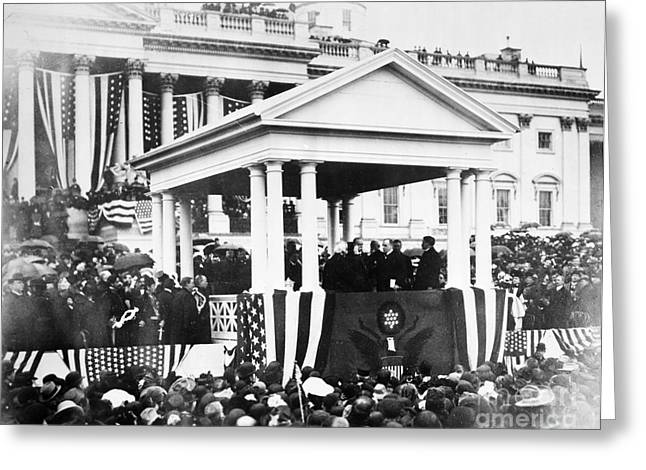 Inauguration Photographs Greeting Cards - McKINLEY INAUGURATION, 1901 Greeting Card by Granger