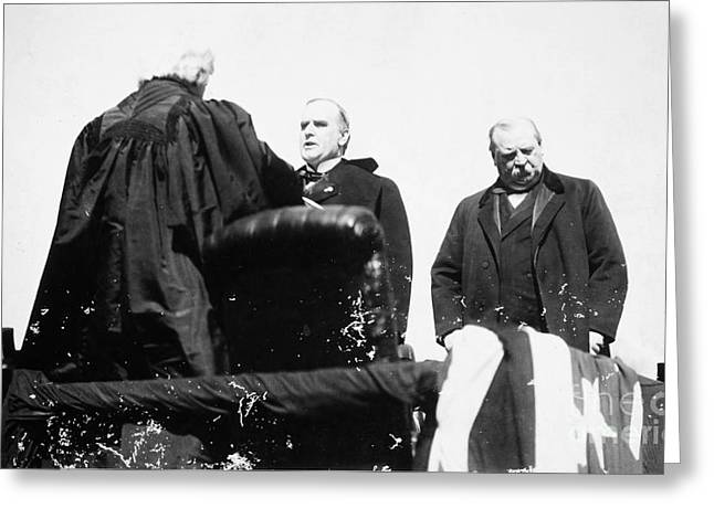 Oath Of Office Greeting Cards - McKINLEY TAKING OATH, 1897 Greeting Card by Granger