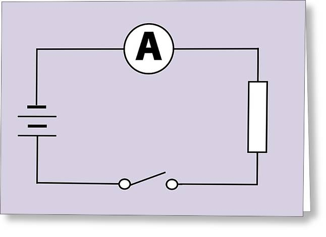 Measuring Electric Current Greeting Card by Sheila Terry