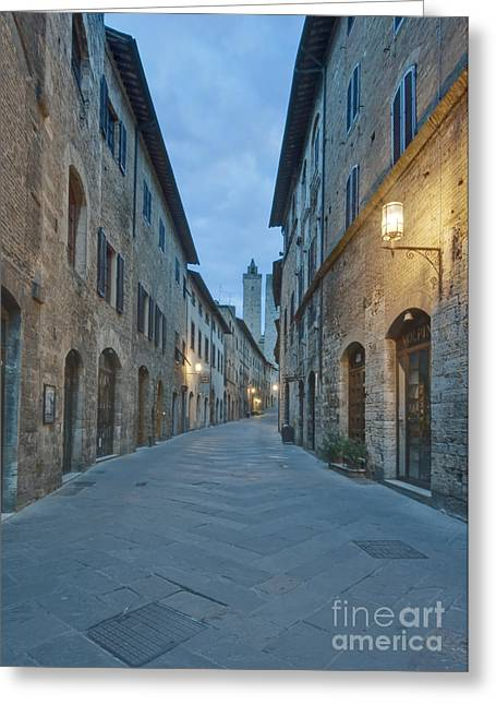 Tuscan Hills Greeting Cards - Medieval Street Greeting Card by Rob Tilley