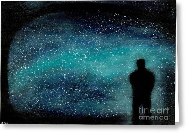 Universal Mother Greeting Cards - Meditation Under the Stars Greeting Card by NARI - Mother Earth Spirit