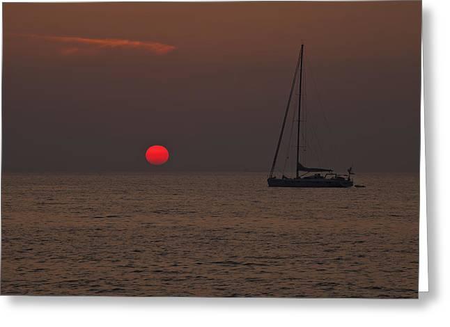Masts Greeting Cards - Mediterranean Greeting Card by Joana Kruse