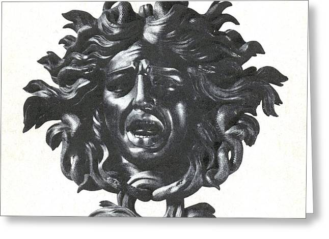 Greek Sculpture Greeting Cards - Medusa Head Greeting Card by Photo Researchers